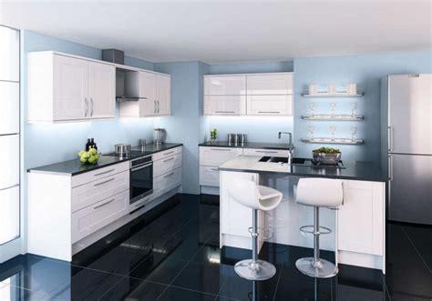 cuisine blanche et bleue armoires de cuisine blanches avec quels murs et crédence