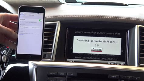 how to pair an iphone to a mercedes via bluetooth