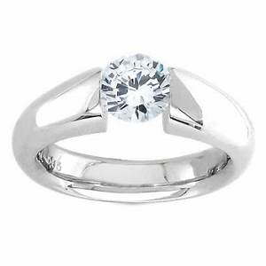 tension engagement ring setting by sareen jewelry tsla007 With tension set engagement ring with wedding band
