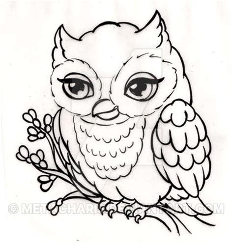 owl outline drawing owl by metacharis on deviantart