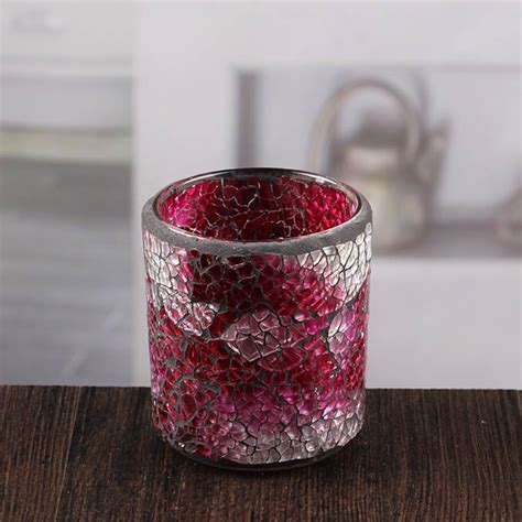 Small Glass Candle Stick Holders by Glass Candle Holder Small Candlestick Holders Mosaic