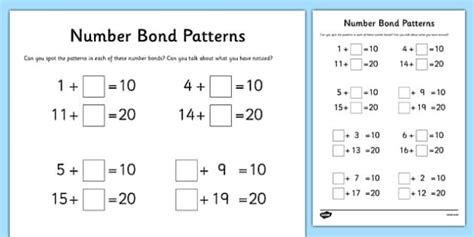 Mixed Number Bonds To 10 On Robots Worksheet