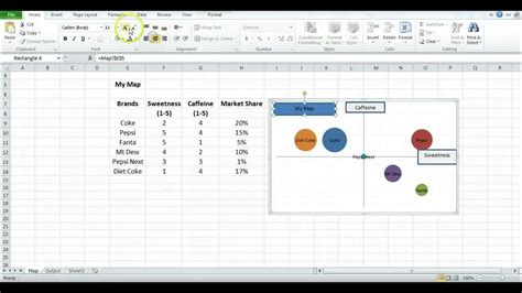 perceptual map  excel youtube