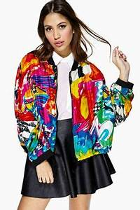 Colorful Bomber Jacket Jacket To