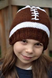 Knitted Football Hat Pattern