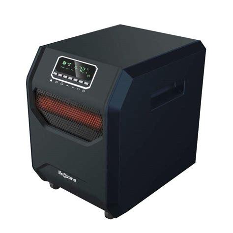 life pro medium room infrared tower heater fan lifesmart 1 500 watt 4 element medium room infrared bulb