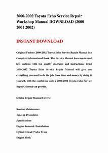 2000 2002 Toyota Echo Service Repair Workshop Manual