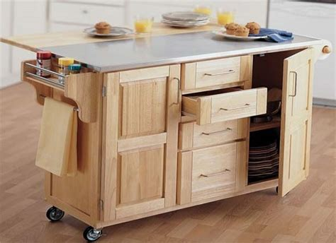 Kitchen Island With Drop Leaf Table