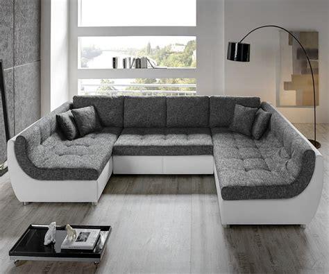 Couch Vuelo Grau Weiss Sofa Mit Schlaffunktion