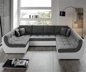L Sofa Mit Schlaffunktion : couch vuelo grau weiss sofa mit schlaffunktion wohnlandschaft ebay ~ Frokenaadalensverden.com Haus und Dekorationen