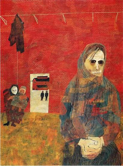 Ben Shahn Paintings Wives Miners Artist Painting