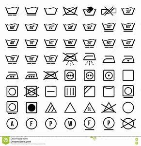 Textile Care Symbols  Vector Set Cartoon Vector