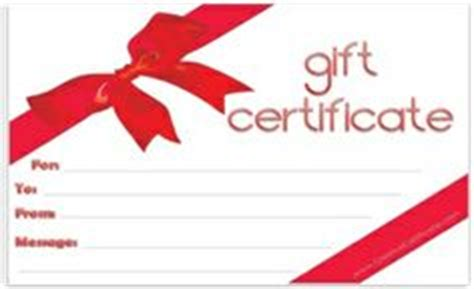 gift certificates images printable gift