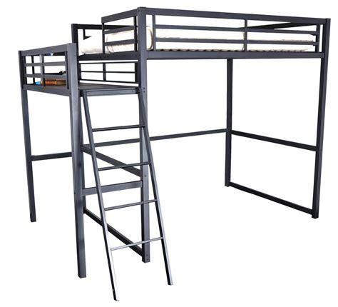chambre avec lit mezzanine 2 places lit mezzanine 2 places métal noir 140 ultramat