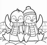 Penguin Coloring Pages Cartoon Printable Hard Getdrawings Crayola Getcolorings sketch template