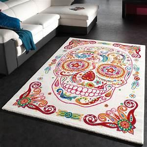 Teppich Mit Namen : teppich bunter totenkopf moderner designer teppich skelett kopf multicolour wohn und ~ Eleganceandgraceweddings.com Haus und Dekorationen