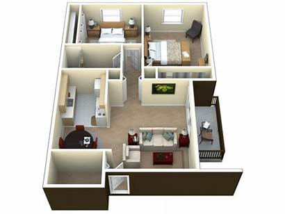 Bedroom Balcony Villa Apartments Plans Floor Apartment