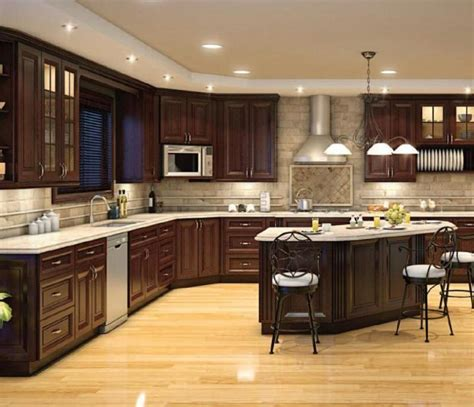 brown kitchens