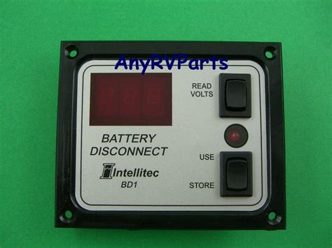 intellitec battery disconnect panel switch with voltmeter 01 00066 005 ebay
