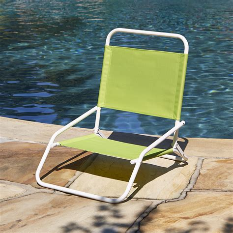 low back beach chair green outdoor living patio