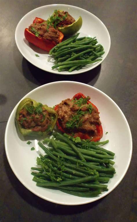 cuisiner des haricots verts en boite poivrons farcis à la viande et à l aïl sans matière