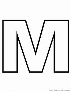 27 best printable outline letters images on pinterest With giant letter m