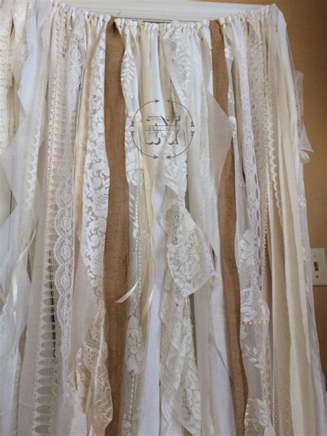 cortinas encaje cortinas de arpillera encaje cinta cortina trapo r 250 stico