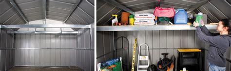 arrow galvanized steel storage shed anchor kit arrow sheds accessorize attic workbench frame kit metal