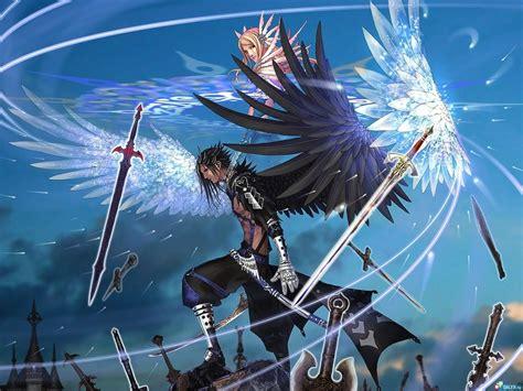 Anime Wings Wallpaper - wallpaper anime wings flying boy performance