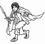 Hobbit Coloring Lord Rings Frodo Baggins Clipart Colouring Clip Legolas Der Drawings Ring Herr Ringe Drawing Cliparts Bilbo Character Gandalf sketch template