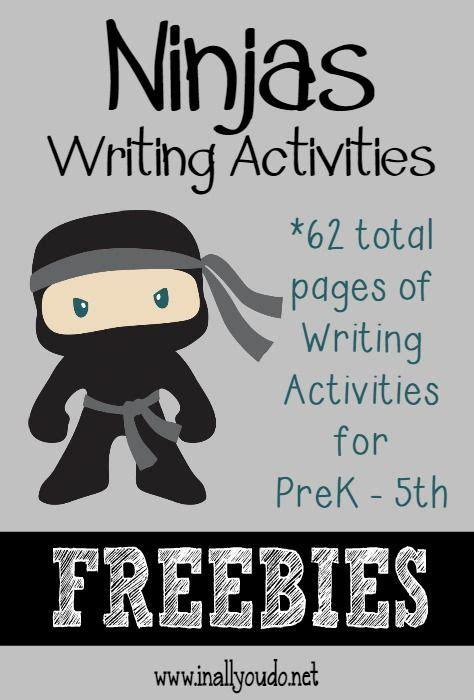 ninja writing activities 62 total pages language arts