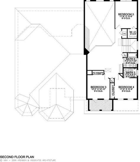 5 Bedroom 4 Bath Coastal House Plan #ALP 019H