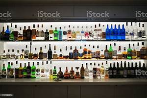 Alcohol Shelf In A Bar Stock Photo - Download Image Now - iStock