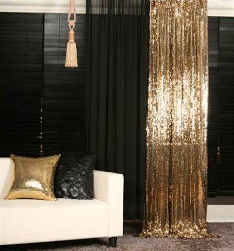 black and gold curtains 25 ways to use curtains as space dividers digsdigs