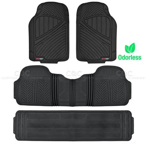 floor mats suv black 4pc rubber floor mat car suv heavy duty all season mats liner bpa free ebay