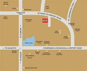Location Map - Fort House  Near Hebbal Lake  Bangalore