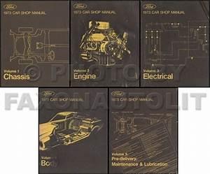 1973 Lincoln Original Shop Manual Set Mark Iv Continental