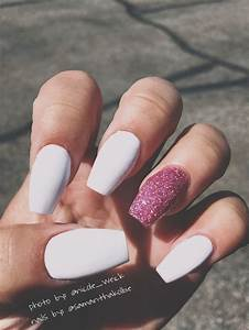 Matte White Acrylic Nails | www.imgkid.com - The Image Kid ...