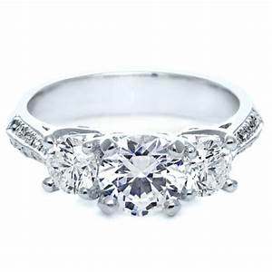 three stone diamond engagement ring 171 With 3 stone diamond wedding rings