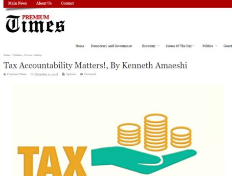 See all articles by alexander ezenagu. NTRN featured in opinion piece on tax accountability in Nigeria - The International Centre for ...