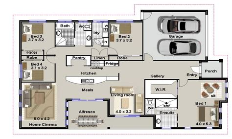 residential house plans 4 bedroom house plans residential house plans 4 bedrooms modern 4 bedroom house plans