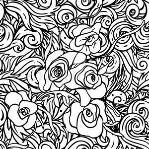 Seamless pattern with black and white flowers | Stock ...