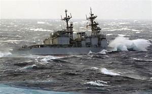 Navy Ship  Us Navy Ship Heavy Weather Photo