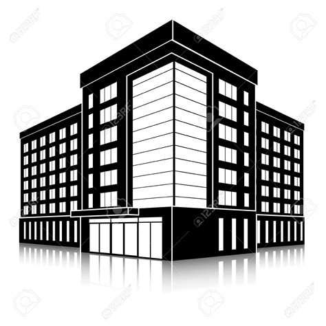 Building Clipart by Office Building Silhouette Clip Cliparts