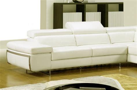 vente privée canapé cuir canapé d 39 angle en cuir italien 5 6 places varga ivoire