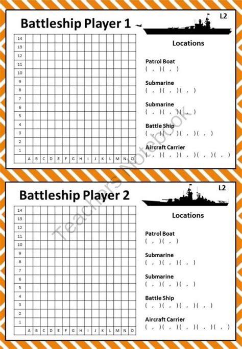 Battleship Game To Teach Coordinates Map Of Downtown « The Best 10+ Battleship Games