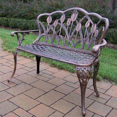 bcp outdoor patio garden bench park yard furniture cast