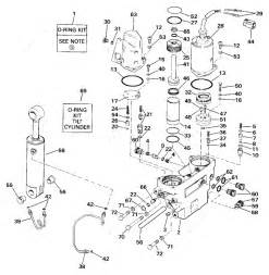 Johnson 1990 225  Tilt Hydraulic
