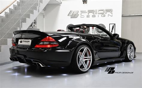 prior design launches  mercedes sl black edition