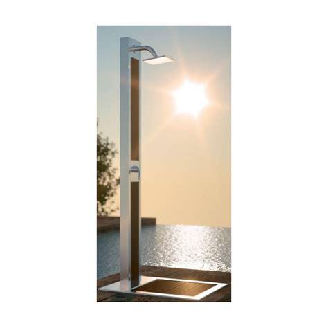 piatto doccia acciaio piatto doccia in acciaio inox e legno esotico
